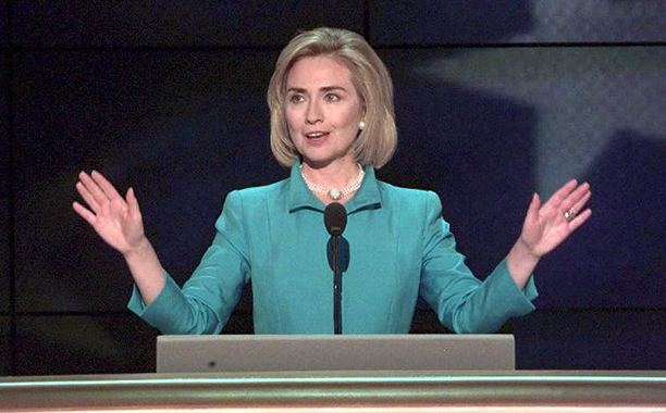 Hillary Rodham Clinton at the Democratic National Convention in Chicago on August 27, 1996