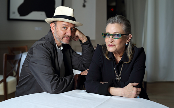 Carrie Fisher With Fisher Stevens at a Photocall for Bright Lights at the 69th Annual Cannes Film Festival on May 15, 2016
