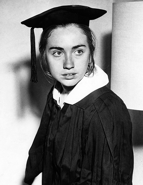 Hillary Rodham at Wellesley College on May 31, 1969