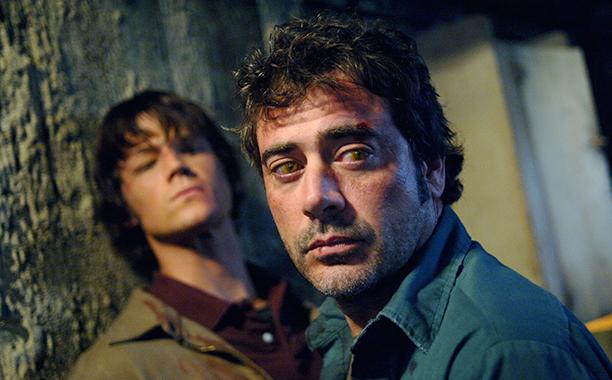Jeffrey Dean Morgan as Azazel-possessing-John on Supernatural on May 22, 2006