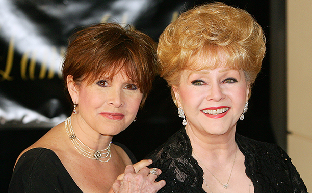Carrie Fisher With Debbie Reynolds at Elizabeth Taylor's 75th Birthday Party on February 27, 2007