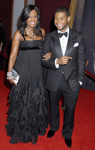 Usher Raymond With Tameka Foster at the 2007 Trumpet Awards in Las Vegas on January 22, 2007