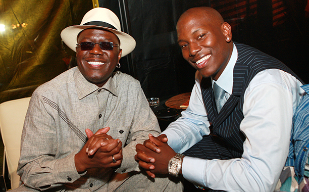 Bernie Mac With Tyrese Gibson at the Afterparty for the Premiere of Transformers in Los Angeles on June 27, 2007