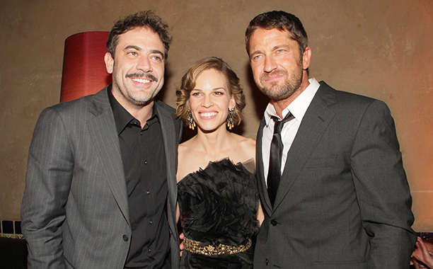 Jeffrey Dean Morgan With Hilary Swank and Gerard Butler in Los Angeles on December 9, 2007