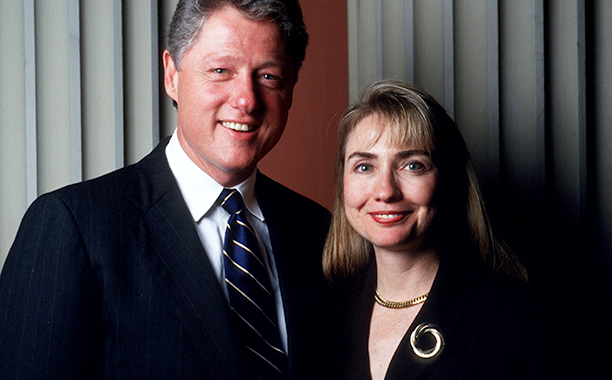 Hillary Rodham Clinton With Bill Clinton in California on September 21, 1991