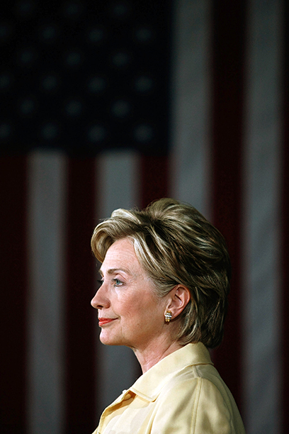 Hillary Rodham Clinton at a Campaign Event at the B&O Railroad Heritage Museum in Grafton, West Virginia on May 11, 2008