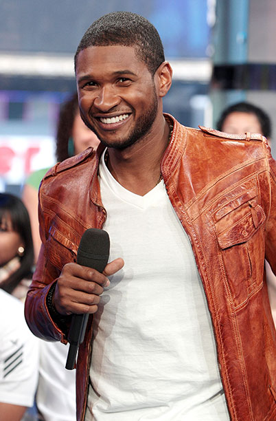 Usher at MTV's Total Request Live in New York City on May 27, 2008