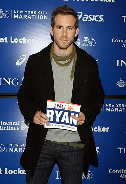 Ryan Reynolds at a Press Conference for the ING New York City Marathon on October 31, 2008