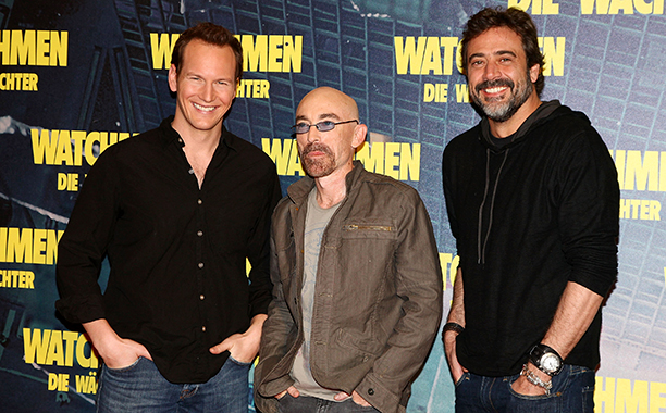 Jeffrey Dean Morgan With Patrick Wilson and Jackie Earle Haley in Munich on February 26, 2009