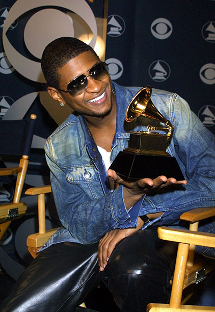 Usher at a Press Conference Announcing the Nominations for the 44th Annual Grammy Awards on January 4, 2002