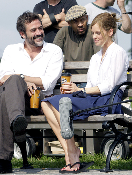 Jeffrey Dean Morgan With Hilary Swank in New York City on July 1, 2009