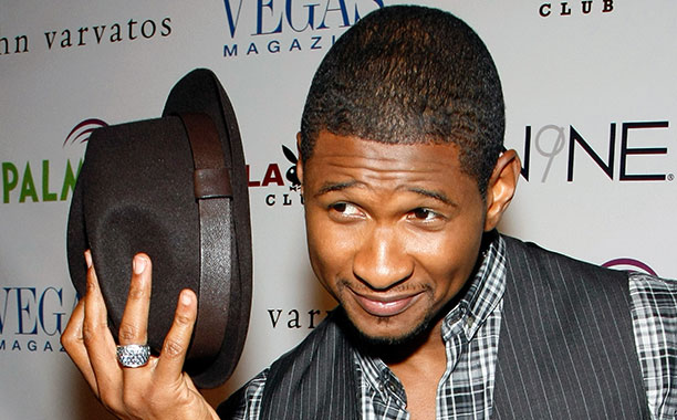 Usher at the Playboy Club at the Palms Casino Resort in Las Vegas on August 7, 2009