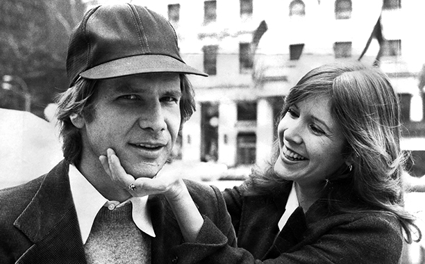 Carrie Fisher With Harrison Ford in New York City in the Late 1970s