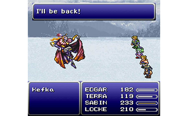 At first, Kefka isn't all that intimidating—he's just a jester, y'know? Small potatoes on your mission to save the world. But then his madness and…