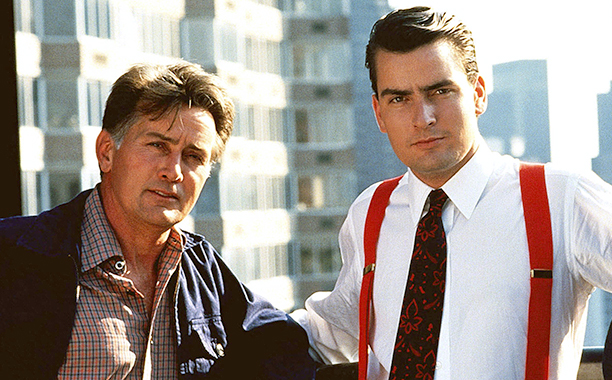 Martin Sheen and Charlie Sheen, Wall Street