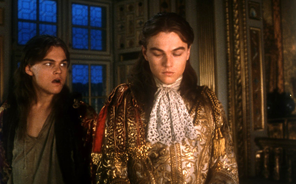 Leonardo DiCaprio as King Louis XIV and Philippe in The Man in the Iron Mask