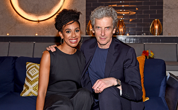 Pearl Mackie and Peter Capaldi (Doctor Who)