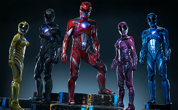 ALL CROPS: From left to right: Trini the Yellow Ranger (Becky G), Zack the Black Ranger (Ludi Lin), Jason the Red Ranger (Dacre Montgomery), Kimberly the Pink Ranger (Naomi Scott) and Billy the Blue Ranger (RJ Cyler) in SABAN'S POWER RANGERS.CR: