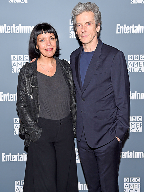 Sarah Barnett and Peter Capaldi