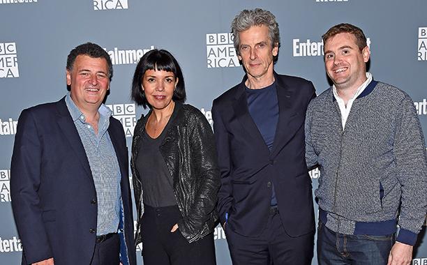 Steven Moffat, Sarah Barnett, Peter Capaldi and Brian Minchin