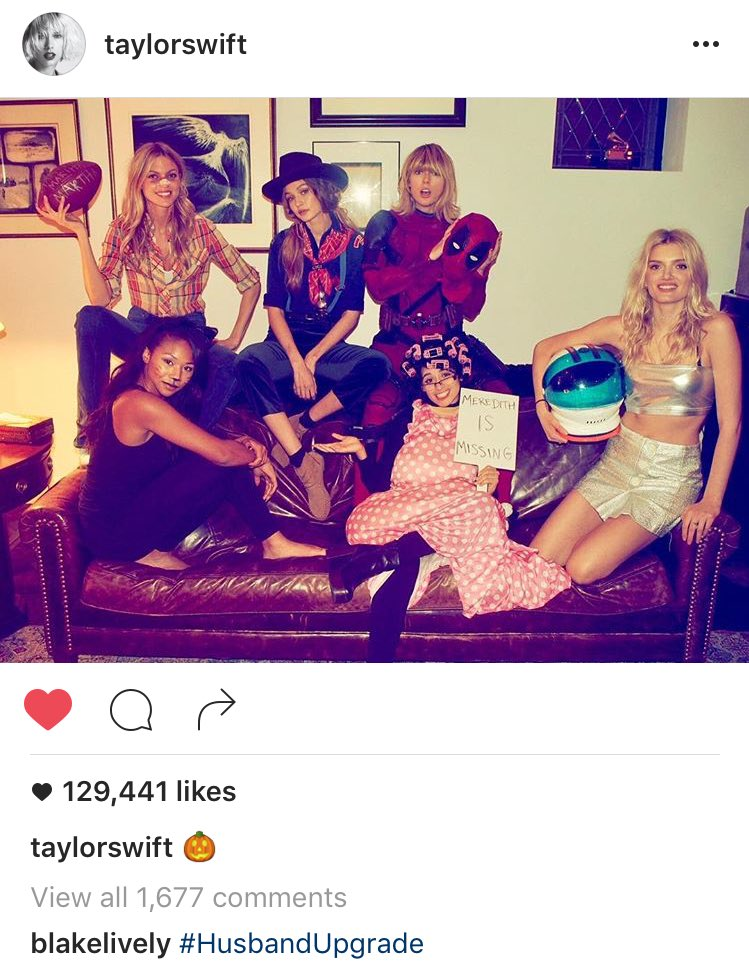 Taylor Swift Dresses As Deadpool For Halloween Ew Com