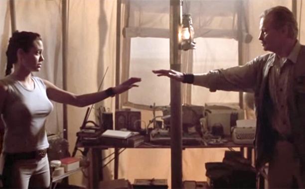 Angelina Jolie and Jon Voight, Lara Croft: Tomb Raider