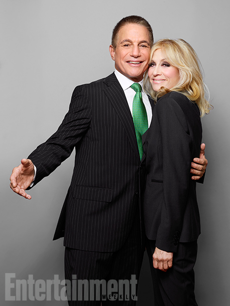 Tony Danza (Tony Micelli) and Judith Light (Angela Robinson Bower)