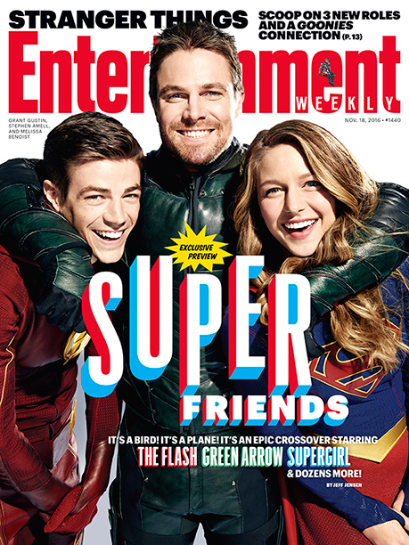 DC Superheroes On The Cover of EW