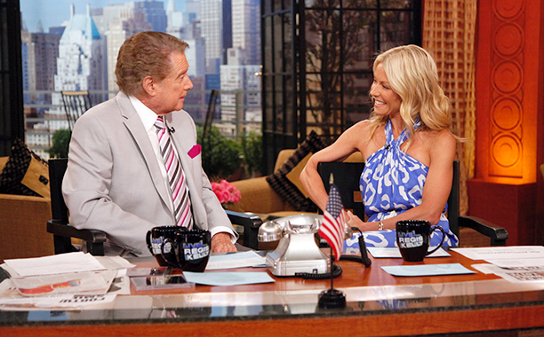 Regis Philbin and Kelly Ripa on Live! with Regis and Kelly on July 27, 2011