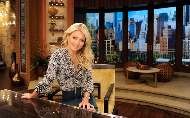 Kelly Ripa on Live! with Kelly on April 12, 2012