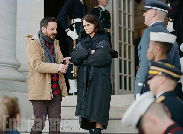 Director Pablo Larrain and Natalie Portman as Jacqueline Kennedy in 'Jackie'
