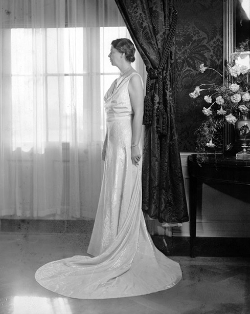 Eleanor Roosevelt at Franklin D. Roosevelt's Inaugural Ball in 1937