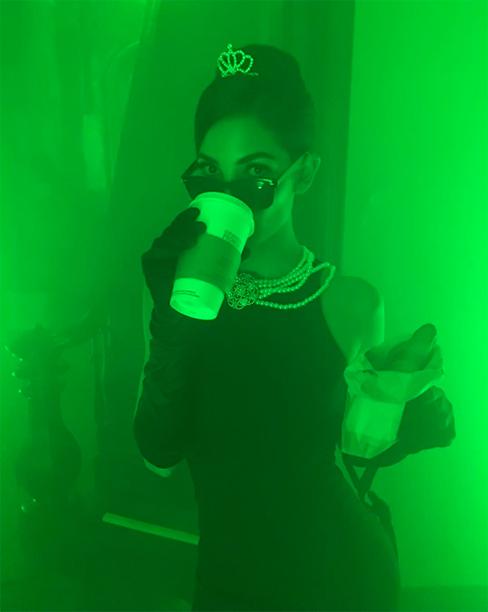 Lily Aldridge as Breakfast at Tiffany's' Holly Golightly