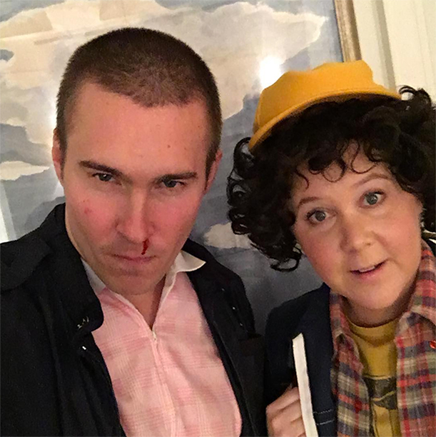 Ben Hanisch and Amy Schumer as Stranger Things' Eleven and Dustin