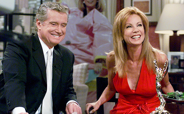 Regis Philbin and Kathie Lee Gifford on Live with Regis and Kathie Lee on July 28, 2000