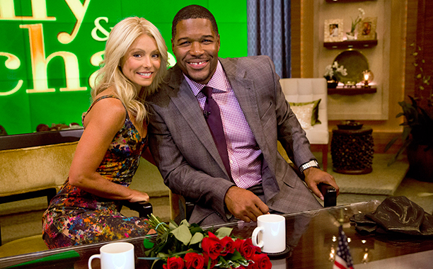 Kelly Ripa and Michael Strahan on Live! with Kelly and Michael on September 4, 2012