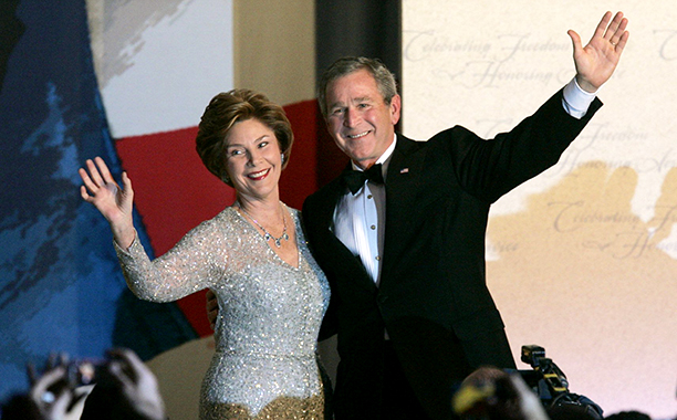 George W. Bush and Laura Bush at George W. Bush's Inaugural Ball in 2005