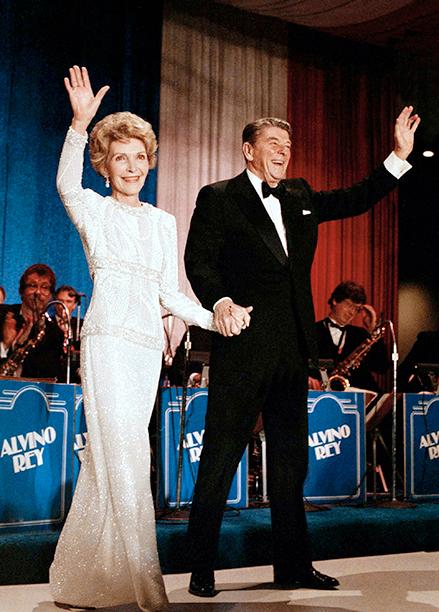 Ronald Reagan and Nancy Reagan at Ronald Reagan's Inaugural Ball in 1985