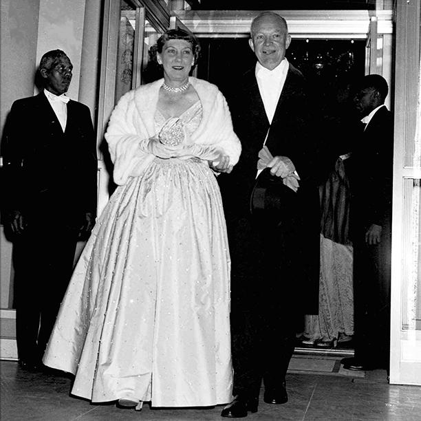 Dwight Eisenhower and Mamie Eisenhower at Dwight Eisenhower's 1953 Inaugural Ball