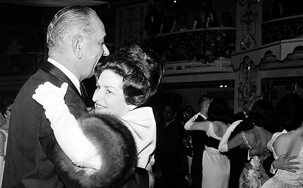 Lyndon B. Johnson and Lady Bird Johnson at Lyndon B. Johnson's 1965 Inaugural Ball