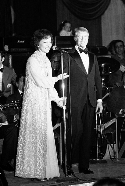 Jimmy Carter and Rosalynn Carter at Jimmy Carter's Inaugural Ball in 1977