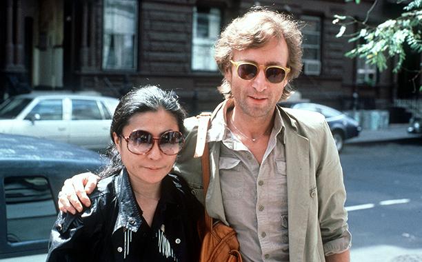 John Lennon and Yoko Ono on August 22, 1980