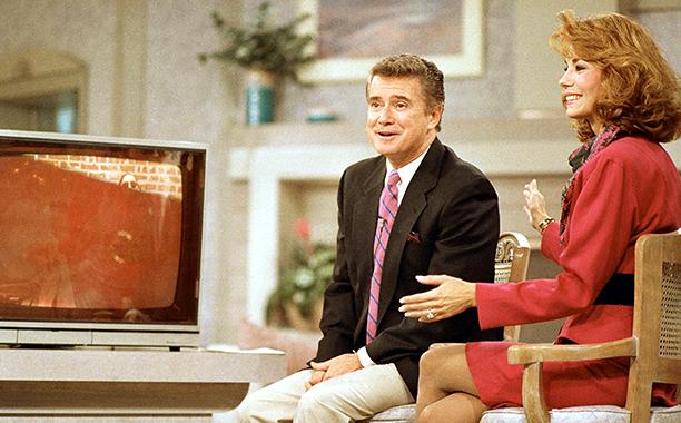 Regis Philbin and Kathie Lee Gifford on Live with Regis and Kathie Lee on September 8, 1988