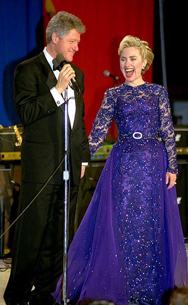 Bill Clinton and Hillary Clinton at Bill Clinton's Inaugural Ball in 1993