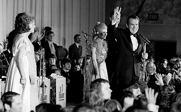 Richard Nixon at Richard Nixon's Inaugural Ball in 1973