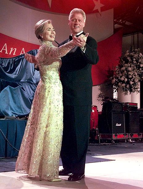 Bill Clinton and Hillary Clinton at Bill Clinton's Inaugural Ball in 1997