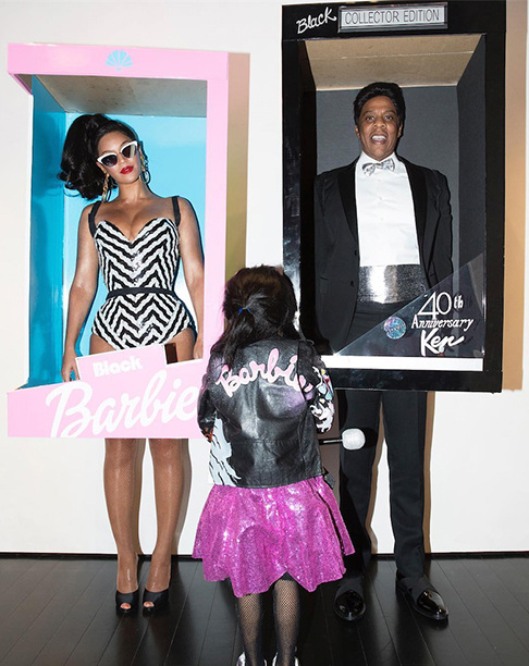 Beyonce and Jay Z as Barbie and Ken