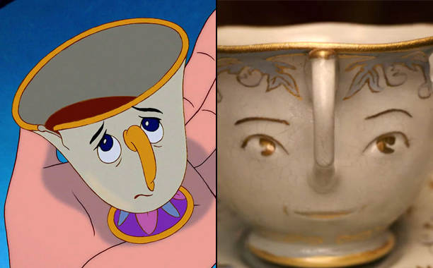 Chip (Voiced by Bradley Michael Pierce) in 1991's Beauty and the Beast and Chip (Voiced by Nathan Mack) in 2017's Beauty and the Beast