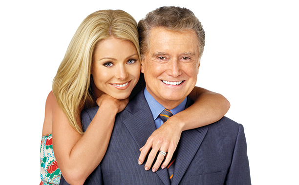 Kelly Ripa and Regis Philbin on Live! with Regis and Kelly in 2005