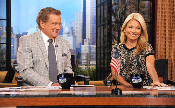Regis Philbin and Kelly Ripa on Live! with Regis and Kelly on July 14, 2011